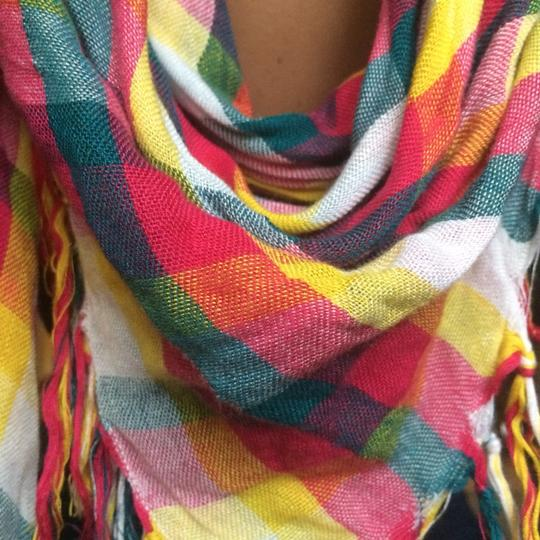 PacSun Colorful Checkered Scarf