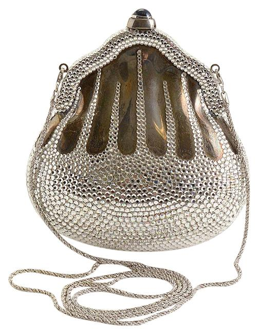 Judith Leiber Rdc11271- Minaudiere Chatelaine Silver Metal/Crystals/Leather Clutch Judith Leiber Rdc11271- Minaudiere Chatelaine Silver Metal/Crystals/Leather Clutch Image 1