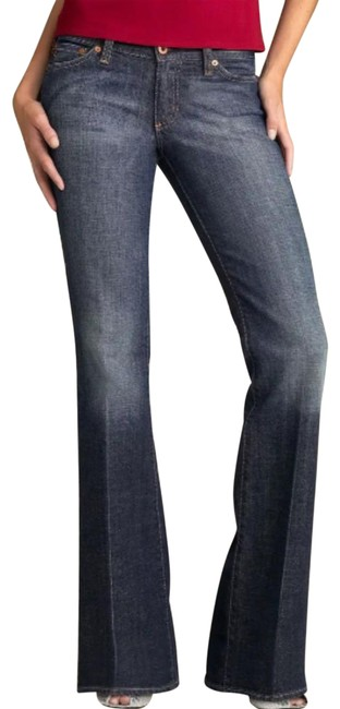 Item - Dark Rinse Club The Well Fitted Flare Trouser/Wide Leg Jeans Size 32 (8, M)