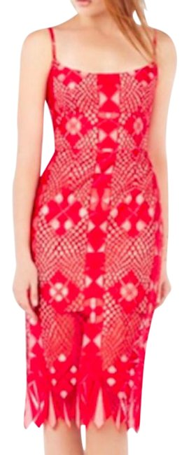 Item - Red Alese Mid-length Cocktail Dress Size 4 (S)