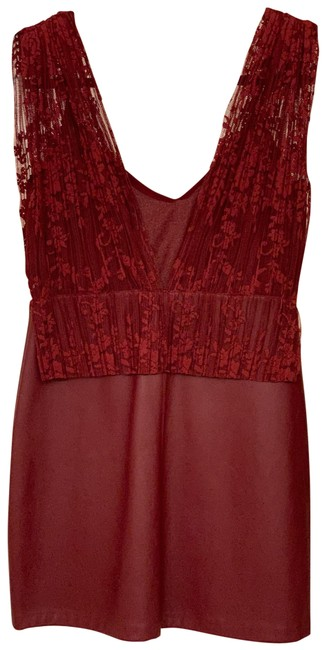 Item - Red Lace Short Cocktail Dress Size 4 (S)