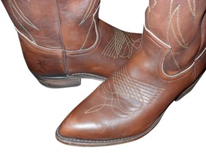 Frye Cowboy Midcalf Tall BROWN Boots