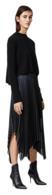 Item - Black Lerin Knit 2-in-1 Mid-length Cocktail Dress Size 0 (XS)
