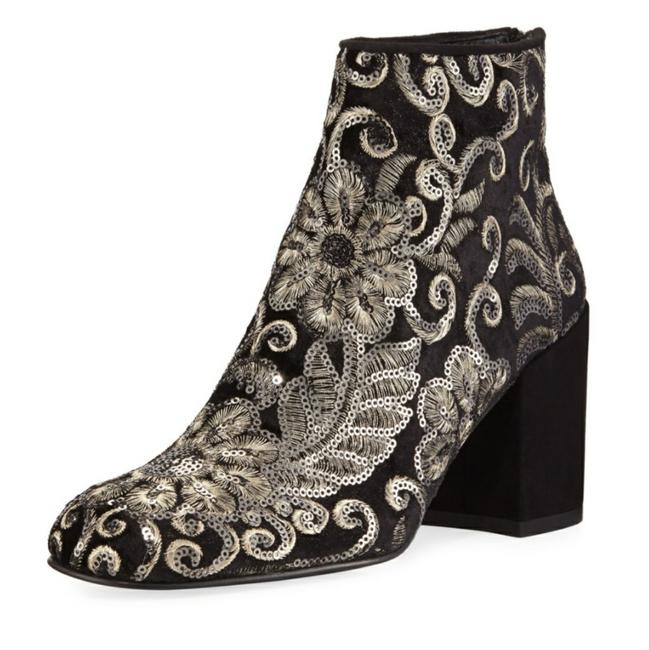 Item - Black Silver Mediate Boots/Booties Size US 8 Regular (M, B)