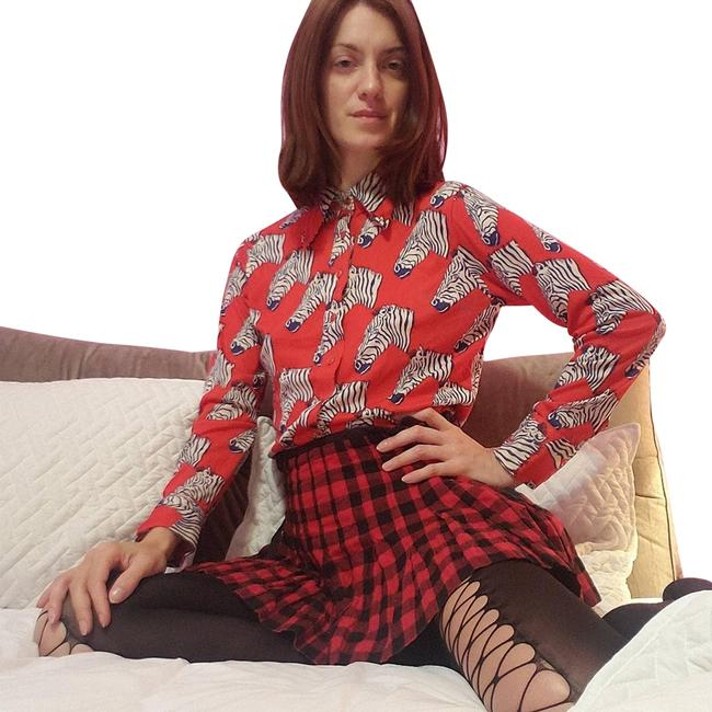 Item - Red Plaid Skirt Size 4 (S, 27)