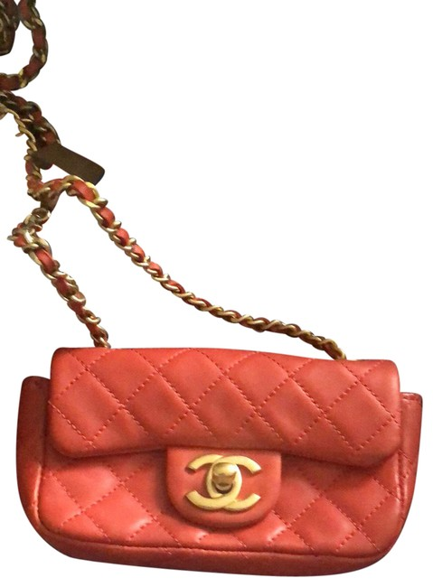 Item - Charms Strap Detached. Red Leather Cross Body Bag