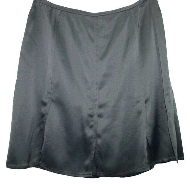 Philippe Adec Black Satin Skirt