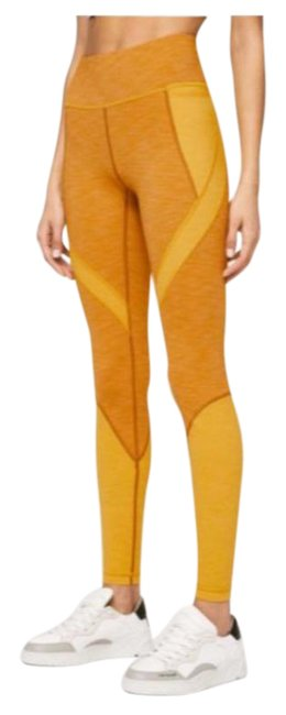 "Item - Fools Gold / Honey Lemon Early Extension High Rise Tight 28"" Activewear Bottoms Size 4 (S, 27)"