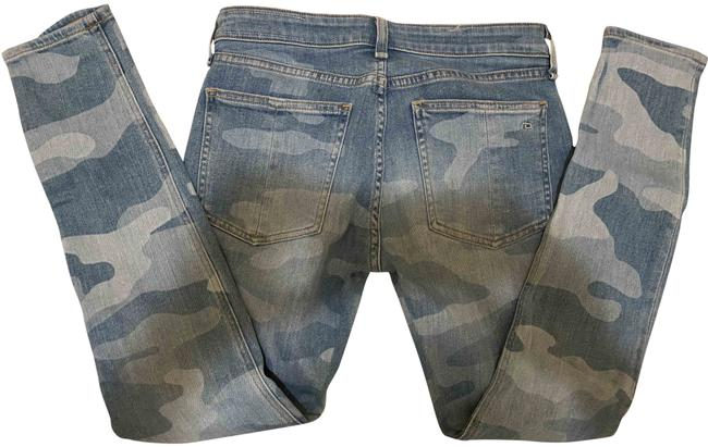 Item - Faded Camo Light Wash Kate Skinny Jeans Size 25 (2, XS)