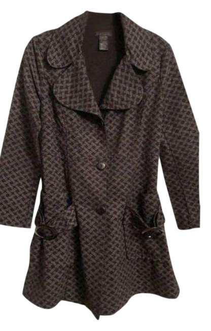 Item - Black Gray + All Seasons Fitted Coat Size 6 (S)