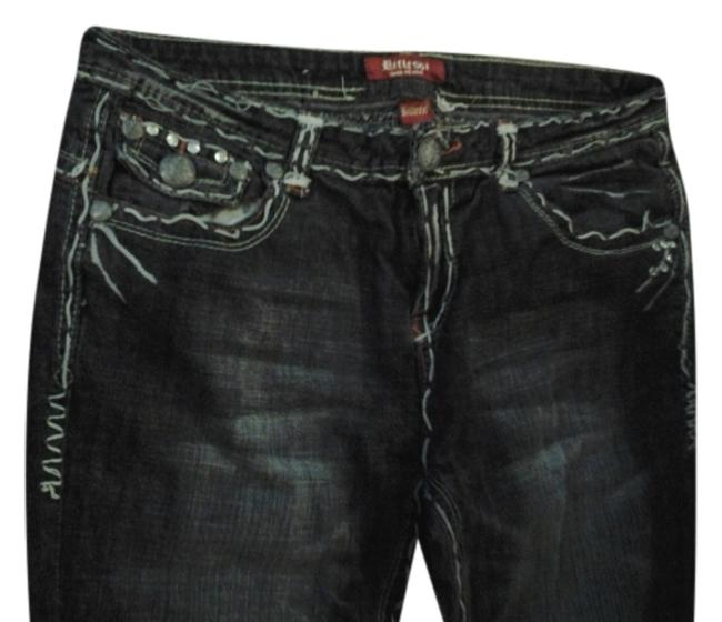 Preload https://item1.tradesy.com/images/blue-distressed-boot-cut-jeans-size-34-12-l-2842960-0-0.jpg?width=400&height=650