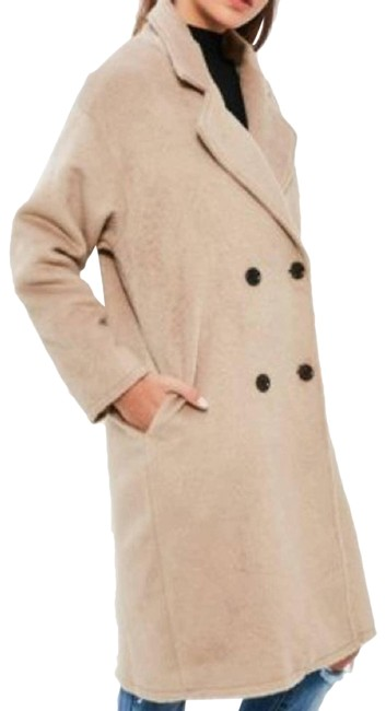 Item - Tan Cocoon Camel Double Breasted Coat Size 4 (S)