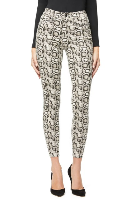 Item - Snake Coated Legs Print High Waist Skinny Jeans Size 32 (8, M)