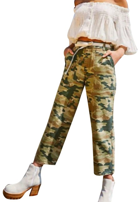 Item - Green Remy Camo Cropped 14 16 Cargo Jeans Size 33 (10, M)