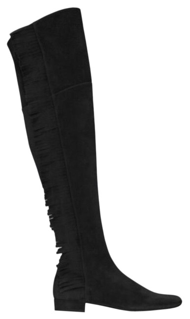 Item - Black W Over The Knee W/Fringe Boots/Booties Size EU 41 (Approx. US 11) Regular (M, B)