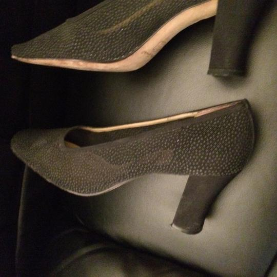 Nina Coctail Evening Special Occasion Sparkling Sheer BLACK Pumps