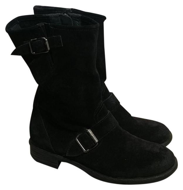 Item - Black Ally Belted Suede Ankle Boots/Booties Size US 6.5 Regular (M, B)