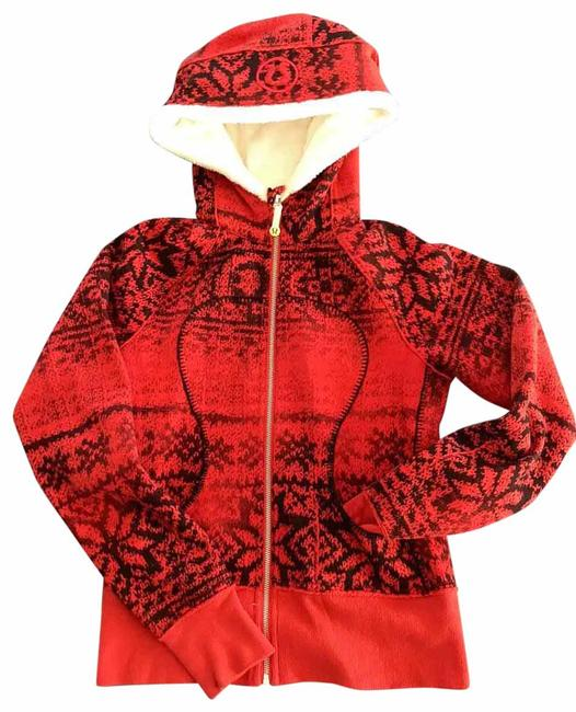 Item - Red Black Cream Scuba Special Edition Activewear Outerwear Size 4 (S)