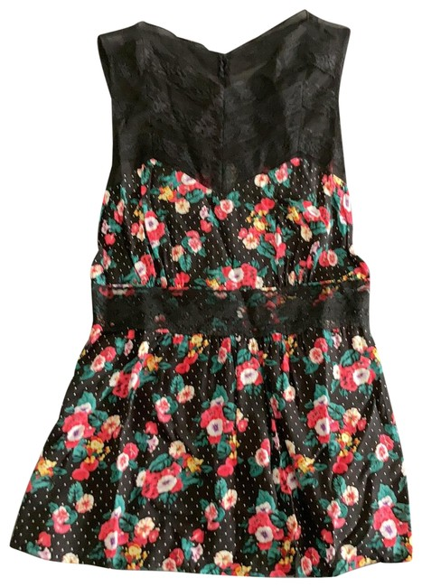 Item - Floral and Lace Black/Multi Top