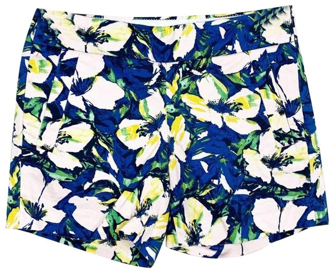 Item - Blue Floral Print Chino Mid Shorts Size 4 (S, 27)