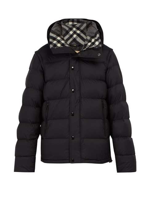 Burberry Black Hartley Detachable-sleeve Down -filled Quilted Puffer Coat Size 16 (XL, Plus 0x) Burberry Black Hartley Detachable-sleeve Down -filled Quilted Puffer Coat Size 16 (XL, Plus 0x) Image 1