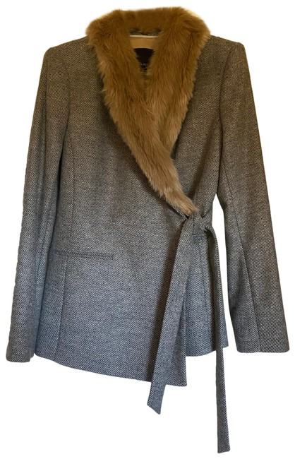 Item - Gray Wool Coat Size Petite 6 (S)