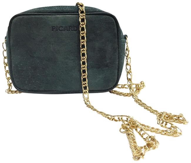 Item - Picard Suede Gold Chain Small Green Leather Cross Body Bag