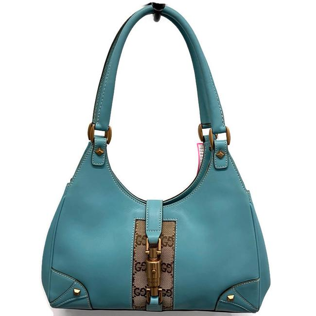 Item - Jackie Small Blue Leather Hobo Bag