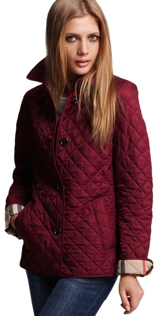 Item - Plum Copford Nova Check Lined Quilted Jacket Size 8 (M)