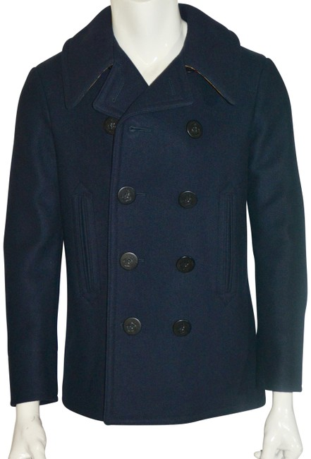 Item - Navy Claythorpe Wool Double - Breasted Peacoat Jacket Coat Size 12 (L)