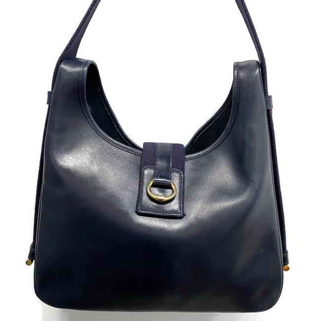 Item - Sako Vintage Courchevel Navy Leather Hobo Bag