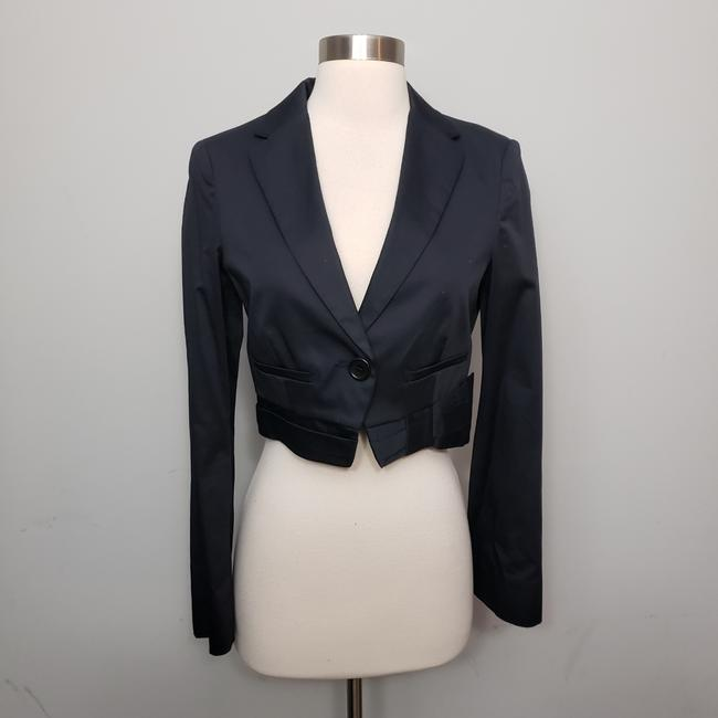 Item - Navy Blue Cropped Structured Bow Blazer Size 2 (XS)