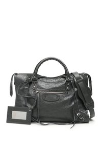 Item - Classic City Gray Leather Satchel