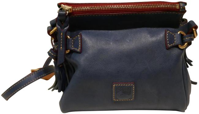 Item - Small Zipped Blue Leather Cross Body Bag