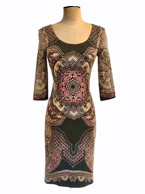 Item - Paisley Black Winter Collection Mid-length Short Casual Dress Size 4 (S)