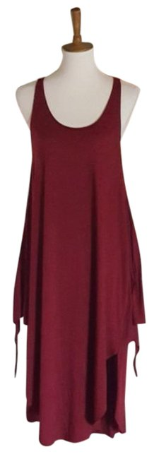 Item - Red Tiered Long Casual Maxi Dress Size 10 (M)