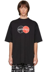 Item - Black Red Unisex Mens Oversized Uniform Logo T-shirt Small Tee Shirt