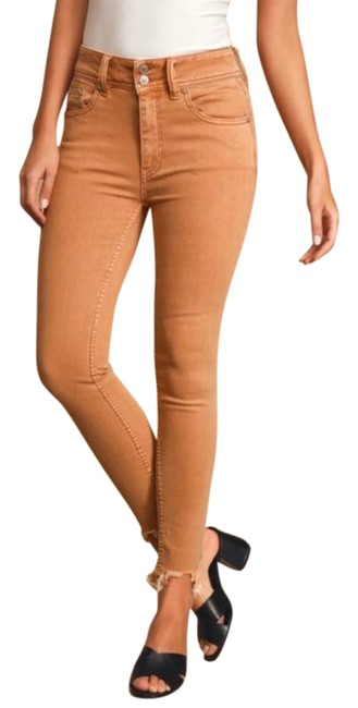 Item - Tan Brown Wild Child Skinny Jeans Size 25 (2, XS)