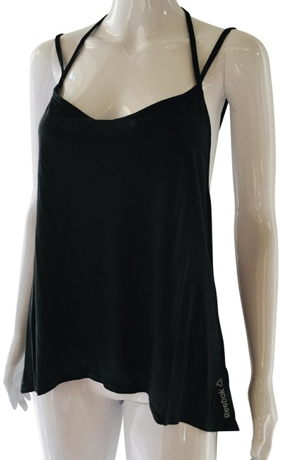 """Item - Black Graffiti Studio """"Not Interested"""" Strappy Activewear Top Size 12 (L)"""