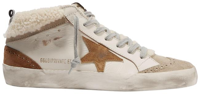 Item - Beige Mid Star Distressed Leather Suede and Shearling Sneakers Size EU 35 (Approx. US 5) Regular (M, B)
