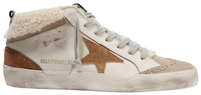 Item - Beige Mid Star Distressed Leather Suede and Shearling Sneakers Size EU 36 (Approx. US 6) Regular (M, B)
