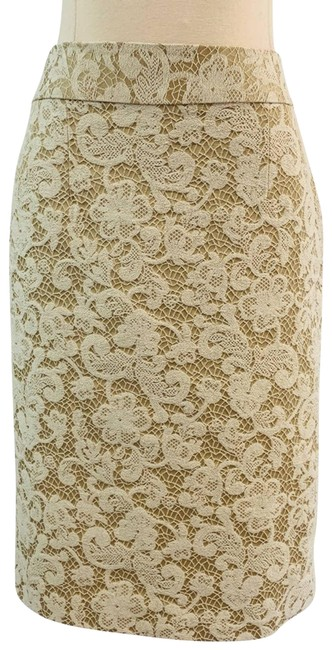 Item - Cream Tan with Lace Pencil Skirt Size 2 (XS, 26)