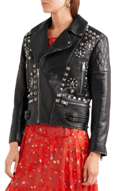 "Item - Black/Silver Studded Biker ""Future"" Jacket Size 2 (XS)"