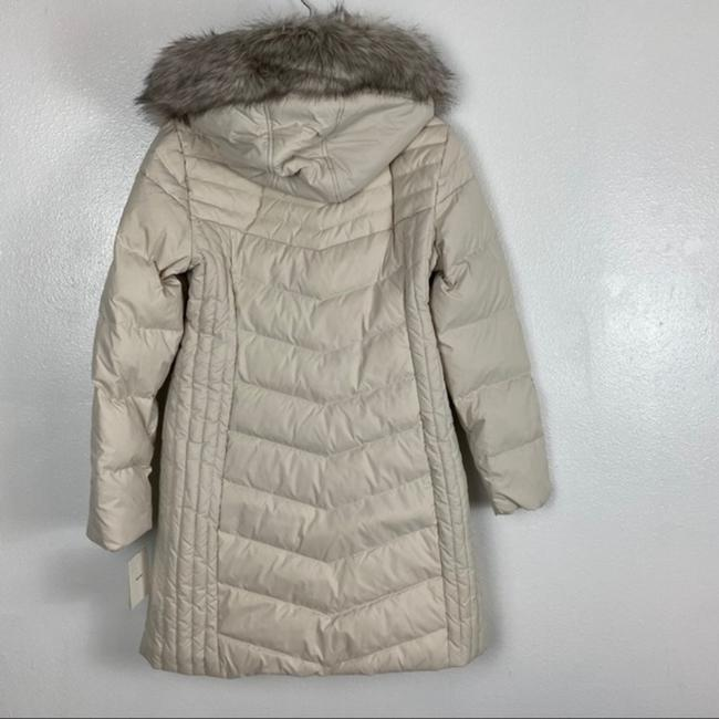 Anne Klein Ivory Faux Fur Trim Quilted In Quartz Coat Size 8 (M) Anne Klein Ivory Faux Fur Trim Quilted In Quartz Coat Size 8 (M) Image 12