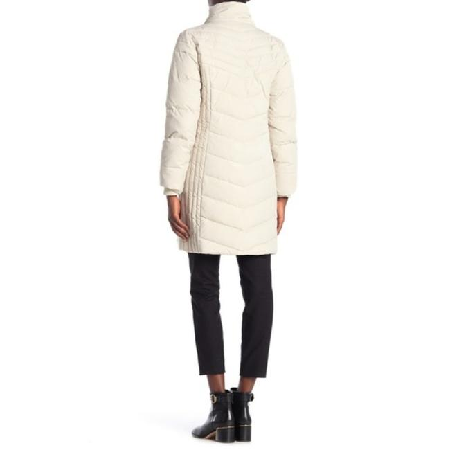 Anne Klein Ivory Faux Fur Trim Quilted In Quartz Coat Size 8 (M) Anne Klein Ivory Faux Fur Trim Quilted In Quartz Coat Size 8 (M) Image 6