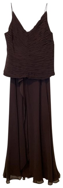 Item - Brown 2 Piece Night Gown Long Formal Dress Size 6 (S)