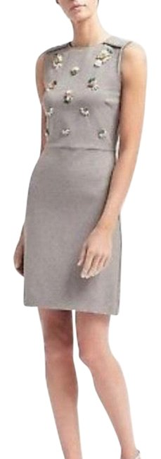 Item - Gray Beat It Sleeveless Mid-length Work/Office Dress Size 8 (M)