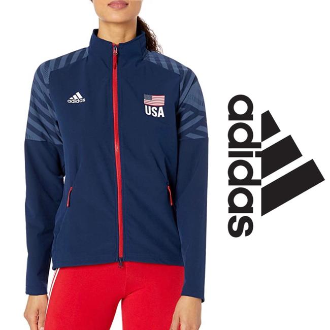 Item - Blue Usa Volleyball Warm Up Jacket*nwt Activewear Outerwear Size 12 (L)