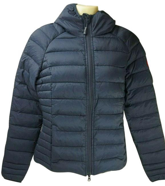 Item - Blue Brookvale Hooded Lightweight Down Jacket Coat Size 2 (XS)