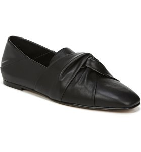 Item - Black Haddie Knotted Convertible Loafer Flats